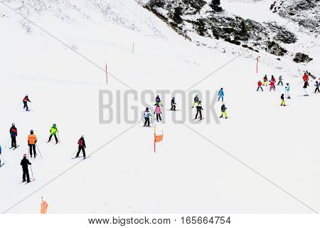 A popular ski trip to Switzerland in the winter so there is a high mountain terrain beautiful and famous ski destinations.