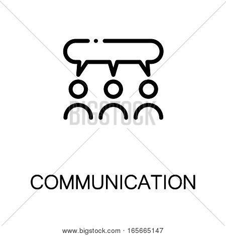 Communication icon. Single high quality outline symbol for web design or mobile app. Thin line sign for design logo. Black outline pictogram on white background