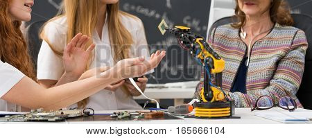 Students During Biorobotics Lectures