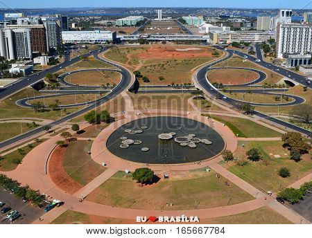 Brasília architecture seen from the top of the TV  Tower