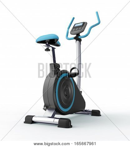Stationary Bicycle Isolated On White