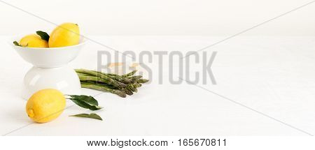 White Tablecloth Banner