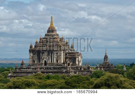 Built in the 12th century Thatbyinnyu Temple is one of the more magnificent temples of Bagan