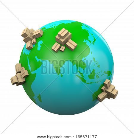 Worldwide Shipping Illustration