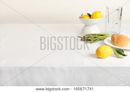 Blank Table Setting