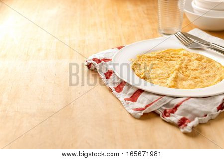 Crepe On White Plate