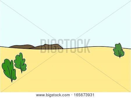 The tropical savanna  and the blue sky.