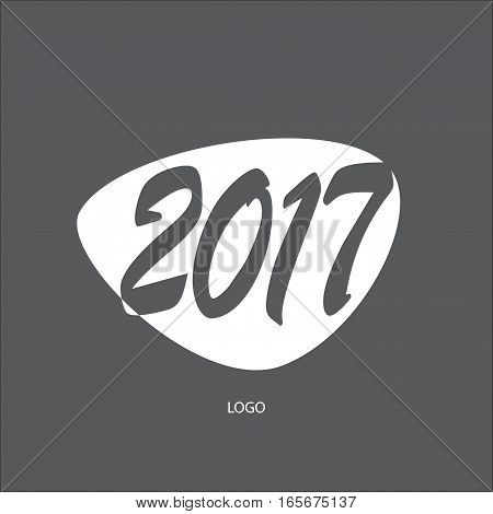 2017 inscription poster template design. Illustration for Happy New Year, Sale, Promotion, Hot Deal, Advertising, Anniversary greeting card, Holiday cards design.  Print Vector