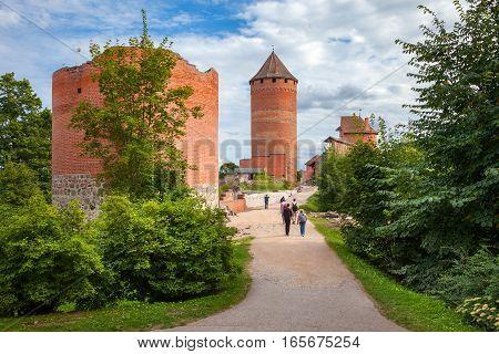 The Road To Old Turaida Castle. Sigulda, Latvia.