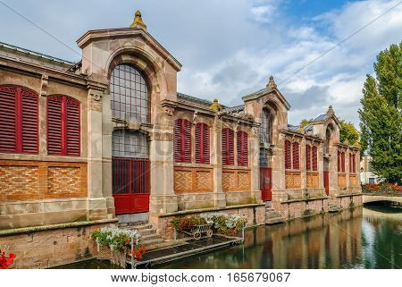 Building of Covered market in Colmar was designed in 1865 France