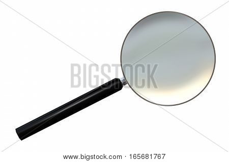 Loupe Or Magnifying Glass Isolated Over White