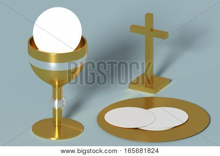 Golden Holy Communion Chalice