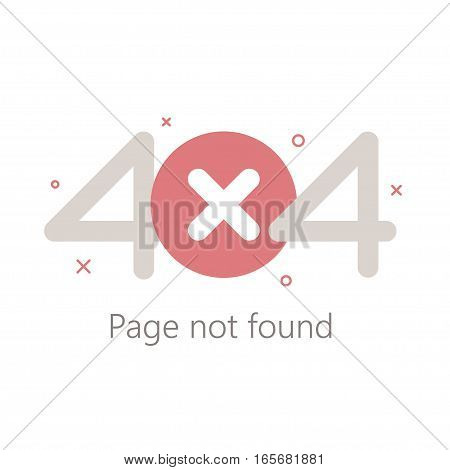 Error page 404, vector template for website. Vector illustration.