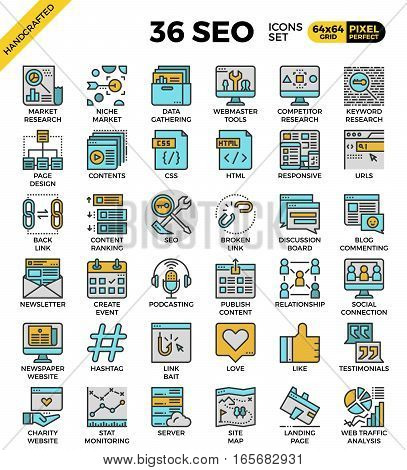 Seo - Search Engine Optimization Icons