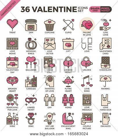 Valentine Concept Icons