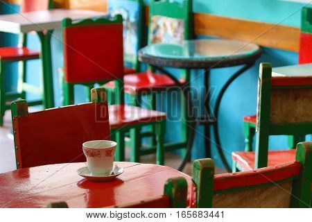 coffee house interior in El Jardin Colombia