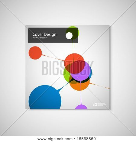 Abstract bright simple technology brochure template. Connection structure.