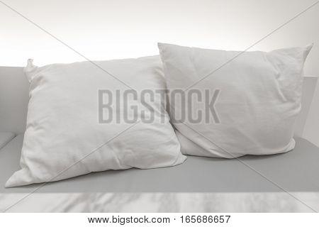 White Pillow Put On Seat