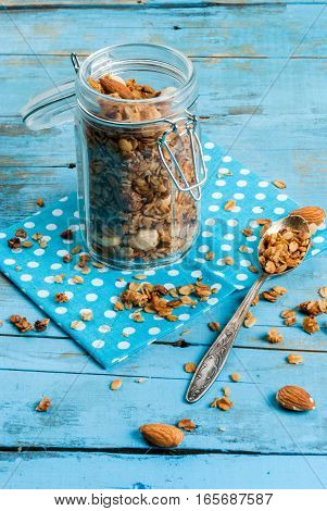 Granola Cereal Flakes With Nuts