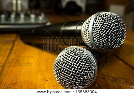 Two Wireless Microphones