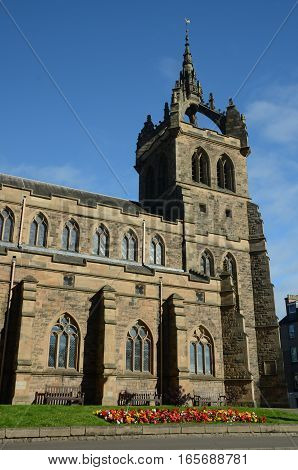 A view of a church tower in Perth
