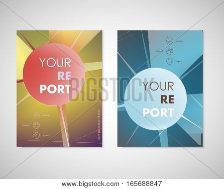 Modern abstract geometric background. White Cover design template business brochure, booklet, report, template advertisement.