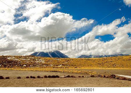 View of the Andes Mountains in Chile near San Pedro de Atacama