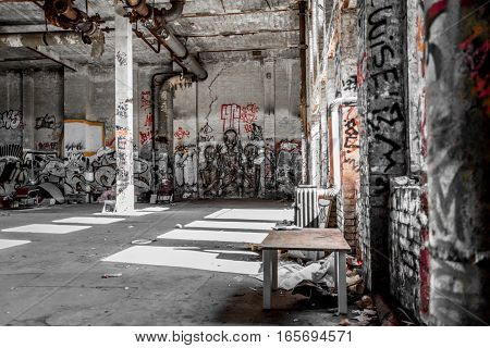 Empty Loft Room In Abandoned Warehouse