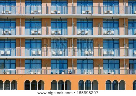 Image of Facade of Modern Building. Varna, Bulgaria