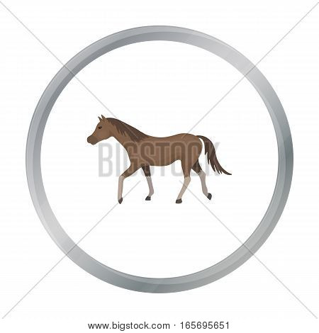 Horse icon in cartoon design isolated on white background. Hippodrome and horse symbol stock vector illustration.