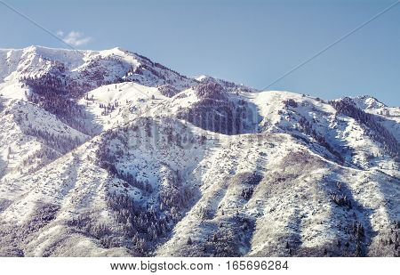 rocky mountains in northern utah where there is famous skiing and snowboarding