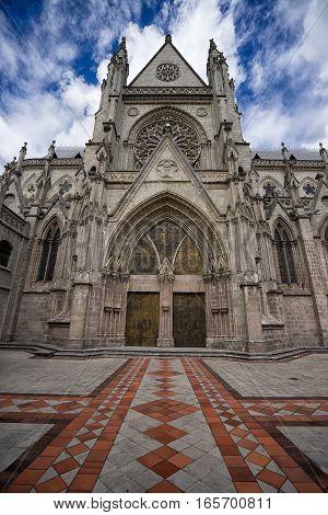 Basilica de Voto Nacional in Quito Ecuador
