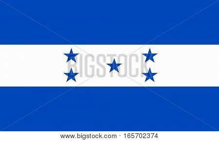 flat honduran flag in the colors blue and white