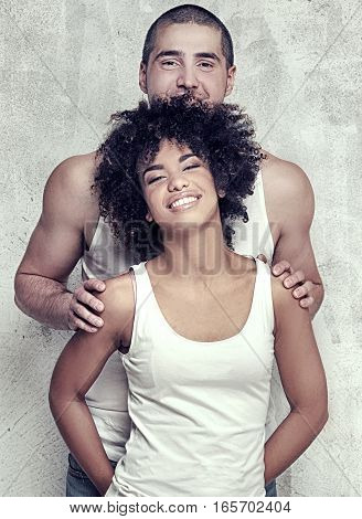 Young Couple Posing Together.