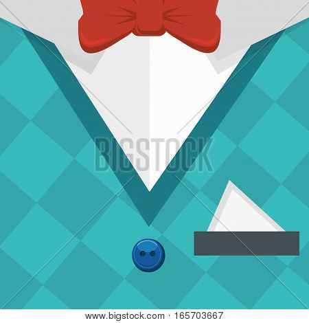 elegant gentleman dress background vector illustration design