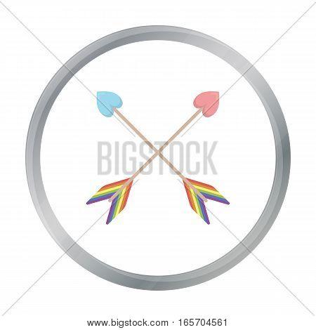 Arrow icon cartoon. Single gay icon from the big minority, homosexual cartoon. - stock vector
