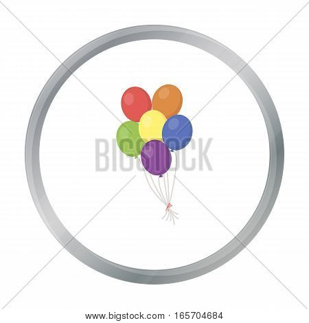 Balloon icon cartoon. Single gay icon from the big minority, homosexual cartoon. - stock vector