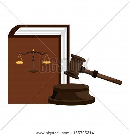 gavel judge isolated icon vector illustration design