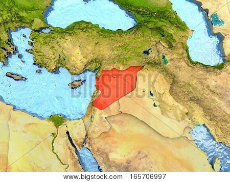 Syria In Red