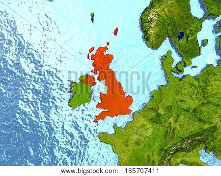 United Kingdom In Red