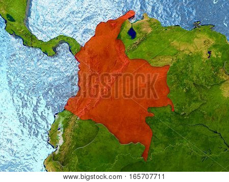 Colombia In Red