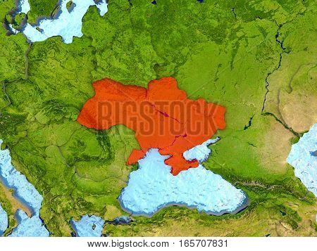 Ukraine In Red