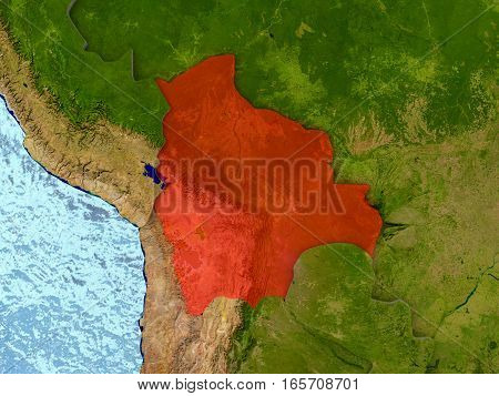 Bolivia In Red