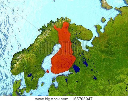 Finland In Red