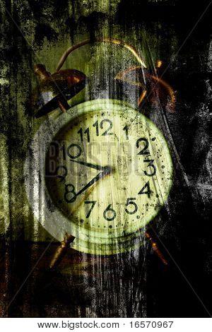 alte Uhr-Gesicht