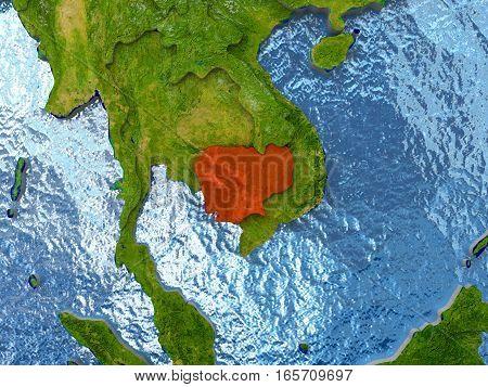 Cambodia In Red