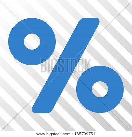 Cobalt Percent interface pictogram. Vector pictograph style is a flat symbol on diagonal hatch transparent background.