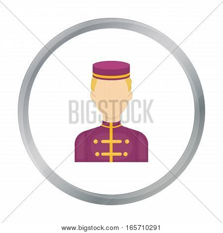 Bellboy icon in cartoon style isolated on white background. Hotel symbol vector illustration.