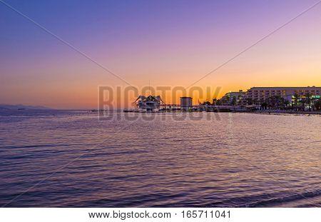 The Twilight Over The Sea