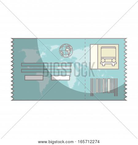 ticket travel isolated icon vector illustration design